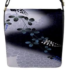 Abstract Black And Gray Tree Flap Messenger Bag (s)