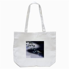 Abstract Black And Gray Tree Tote Bag (white)