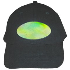 Abstract Yellow Green Oil Black Cap by BangZart