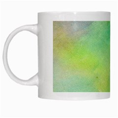 Abstract Yellow Green Oil White Mugs by BangZart