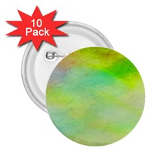 Abstract Yellow Green Oil 2 25  Buttons (10 Pack)
