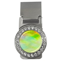 Abstract Yellow Green Oil Money Clips (cz)