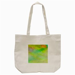 Abstract Yellow Green Oil Tote Bag (cream) by BangZart