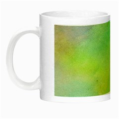Abstract Yellow Green Oil Night Luminous Mugs by BangZart