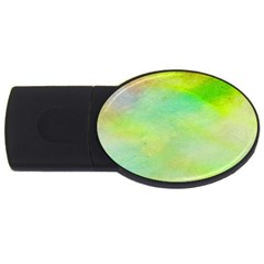 Abstract Yellow Green Oil Usb Flash Drive Oval (4 Gb) by BangZart