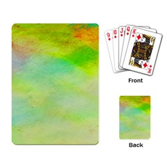 Abstract Yellow Green Oil Playing Card by BangZart