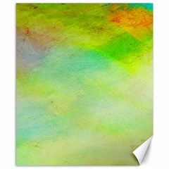 Abstract Yellow Green Oil Canvas 8  X 10