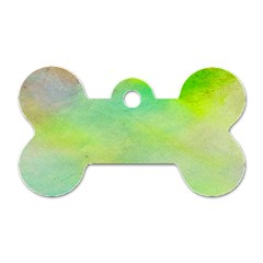 Abstract Yellow Green Oil Dog Tag Bone (two Sides) by BangZart