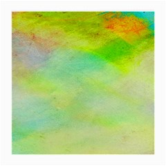 Abstract Yellow Green Oil Medium Glasses Cloth by BangZart