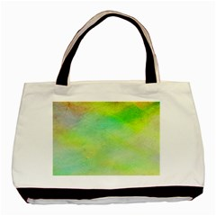 Abstract Yellow Green Oil Basic Tote Bag (two Sides) by BangZart
