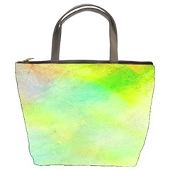 Abstract Yellow Green Oil Bucket Bags by BangZart
