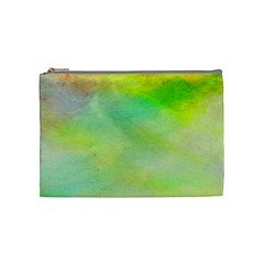Abstract Yellow Green Oil Cosmetic Bag (medium)  by BangZart
