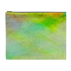 Abstract Yellow Green Oil Cosmetic Bag (xl)