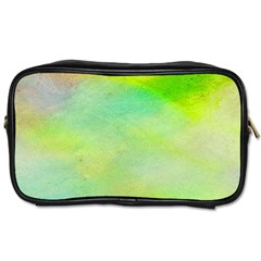Abstract Yellow Green Oil Toiletries Bags 2 Side by BangZart