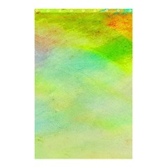 Abstract Yellow Green Oil Shower Curtain 48  X 72  (small)  by BangZart