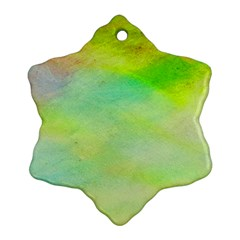 Abstract Yellow Green Oil Ornament (snowflake) by BangZart