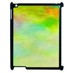Abstract Yellow Green Oil Apple Ipad 2 Case (black) by BangZart