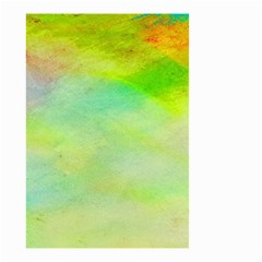 Abstract Yellow Green Oil Small Garden Flag (two Sides)