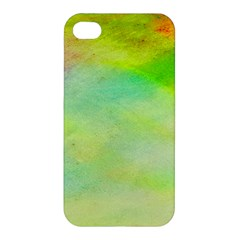 Abstract Yellow Green Oil Apple Iphone 4/4s Premium Hardshell Case by BangZart