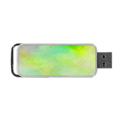 Abstract Yellow Green Oil Portable Usb Flash (one Side) by BangZart