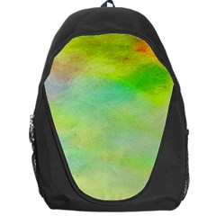 Abstract Yellow Green Oil Backpack Bag by BangZart