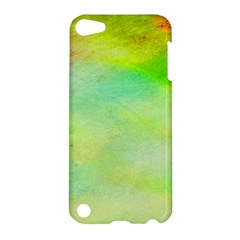 Abstract Yellow Green Oil Apple Ipod Touch 5 Hardshell Case