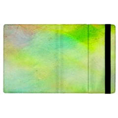 Abstract Yellow Green Oil Apple Ipad 3/4 Flip Case by BangZart