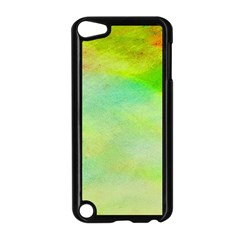 Abstract Yellow Green Oil Apple Ipod Touch 5 Case (black) by BangZart