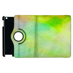 Abstract Yellow Green Oil Apple Ipad 2 Flip 360 Case by BangZart