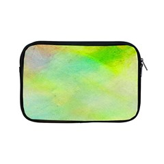 Abstract Yellow Green Oil Apple Ipad Mini Zipper Cases by BangZart