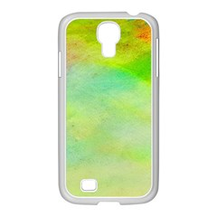 Abstract Yellow Green Oil Samsung Galaxy S4 I9500/ I9505 Case (white) by BangZart