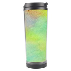 Abstract Yellow Green Oil Travel Tumbler by BangZart