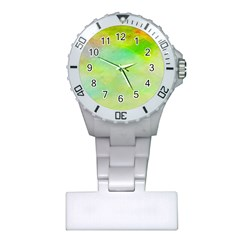 Abstract Yellow Green Oil Plastic Nurses Watch by BangZart