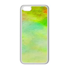 Abstract Yellow Green Oil Apple Iphone 5c Seamless Case (white) by BangZart