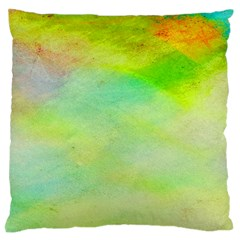 Abstract Yellow Green Oil Standard Flano Cushion Case (one Side)