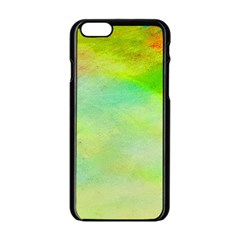 Abstract Yellow Green Oil Apple Iphone 6/6s Black Enamel Case by BangZart