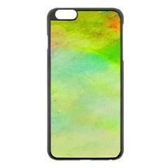 Abstract Yellow Green Oil Apple Iphone 6 Plus/6s Plus Black Enamel Case