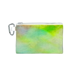 Abstract Yellow Green Oil Canvas Cosmetic Bag (s) by BangZart