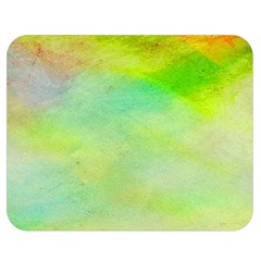 Abstract Yellow Green Oil Double Sided Flano Blanket (medium)