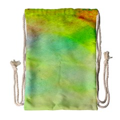 Abstract Yellow Green Oil Drawstring Bag (large) by BangZart