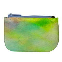 Abstract Yellow Green Oil Large Coin Purse by BangZart