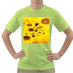 Beautiful Sunflowers Green T Shirt