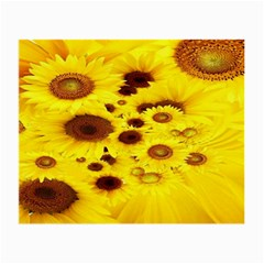 Beautiful Sunflowers Small Glasses Cloth by BangZart