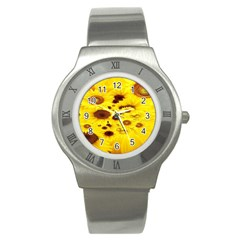 Beautiful Sunflowers Stainless Steel Watch by BangZart