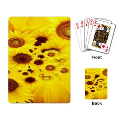 Beautiful Sunflowers Playing Card by BangZart