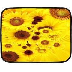Beautiful Sunflowers Double Sided Fleece Blanket (mini)  by BangZart