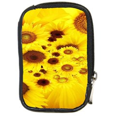 Beautiful Sunflowers Compact Camera Cases by BangZart