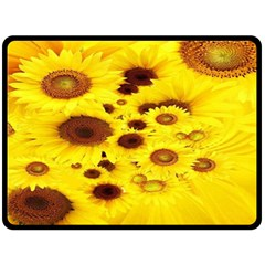 Beautiful Sunflowers Fleece Blanket (large)