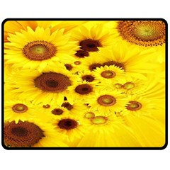 Beautiful Sunflowers Fleece Blanket (medium)  by BangZart