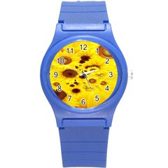 Beautiful Sunflowers Round Plastic Sport Watch (s) by BangZart